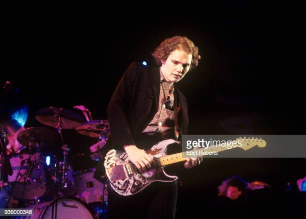 Billy Corgan of Smashing Pumpkins performing at Lollapalooza '94 at Downing Stadium on Randall's Island New York City on August 6 1994
