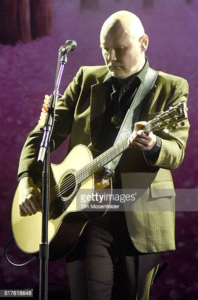 """Billy Corgan of Smashing Pumpkins performs during the """"In Plainsong"""" Tour at The Masonic Auditorium on March 25, 2016 in San Francisco, California."""