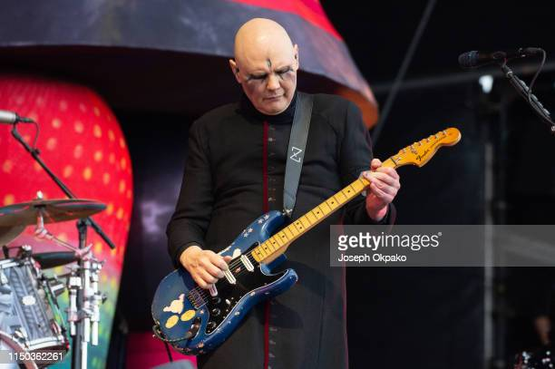 Billy Corgan of Smashing Pumpkins performs on stage during Download festival 2019 at Donington Park on June 16 2019 in Castle Donington England