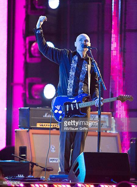 Billy Corgan of the band 'Smashing Pumpkins' is seen at 'Jimmy Kimmel Live' on December 10 2014 in Los Angeles California