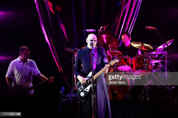 Billy Corgan of the Smashing Pumpkins performs at FivePoint Amphitheatre on August 29 2019 in Irvine California