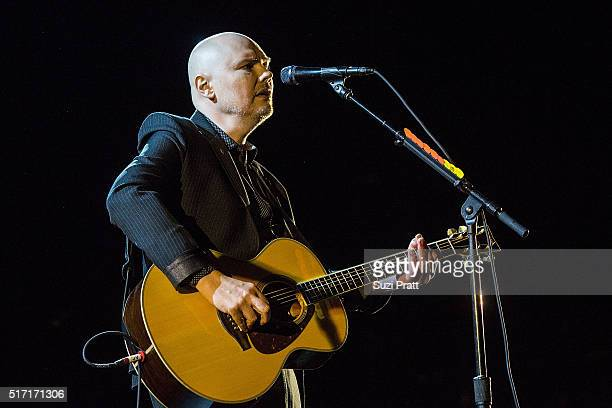 Billy Corgan of The Smashing Pumpkins performs at Paramount Theatre on March 23 2016 in Seattle Washington
