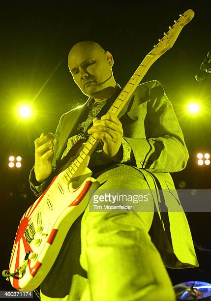 Billy Corgan of The Smashing Pumpkins performs in advance of the band's 'Day for Night' release at The Warfield Theater on December 11 2014 in San...