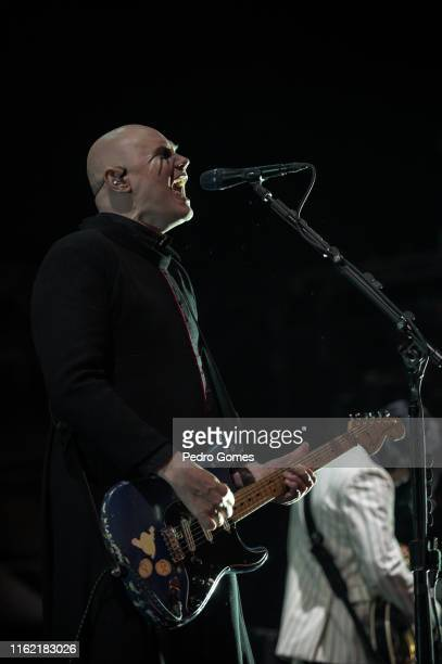 Billy Corgan of The Smashing Pumpkins performs on the NOS stage on day 3 of NOS Alive festival on July 13 2019 in Lisbon Portugal