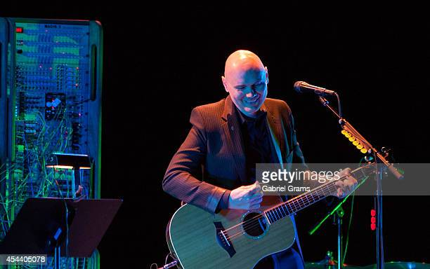 Billy Corgan performs at Ravinia on August 30, 2014 in Highland Park, Illinois.