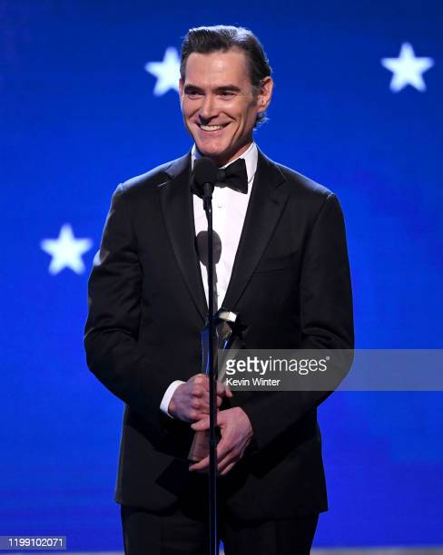 Billy Crudup accepts the Best Supporting Actor in a Drama Series award for 'The Morning Show' onstage during the 25th Annual Critics' Choice Awards...