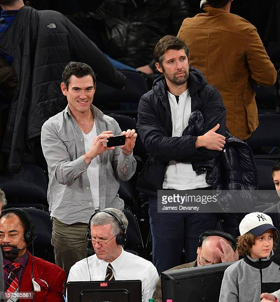 Billy Crudup and Bart Freundlich attend the Phoenix Suns vs New York Knicks game at Madison Square Garden on December 2 2012 in New York City