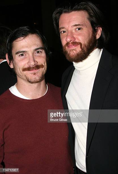 Billy Crudup and Jason Butler Harner during Shipwreck The Coast of Utopia Part 2 Opening Night Party at Avery Fisher Hall in New York City New York...