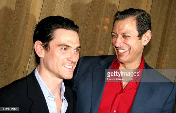 Billy Crudup and Jeff Goldblum during Opening Night of Martin McDonagh's 'The Pillowman' on Broadway Curtain Call and After Party at Osteria Stella...