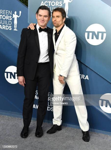 Billy Crudup and Sam Rockwell arrives at the 26th Annual Screen ActorsGuild Awards at The Shrine Auditorium on January 19, 2020 in Los Angeles,...