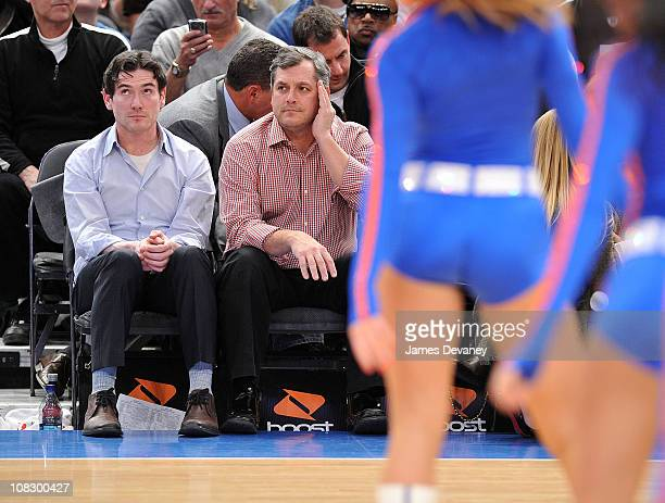 Billy Crudup attends the Washington Wizards vs New York Knicks game at Madison Square Garden on January 24 2011 in New York City