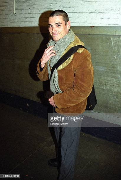 Billy Crudup during Billy Crudup Exits the Royale Theater After 'The Elephant Man' March 27 2002 at Royale Theater in New York City New York United...