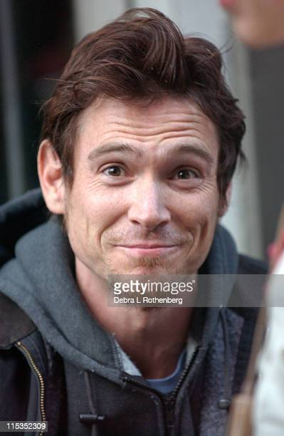 Billy Crudup during On the Set of Trust The Man New York City at Greenwich Village in New York City New York United States