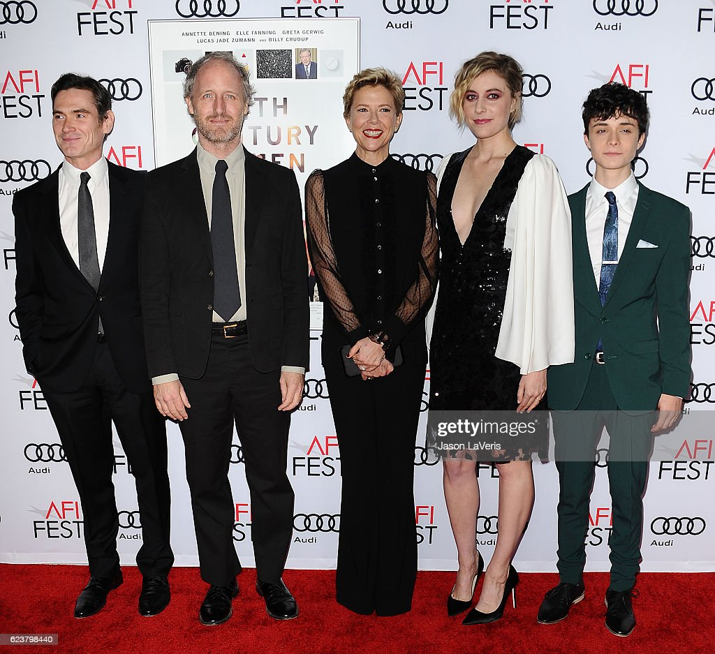 Billy Crudup, Mike Mills, Annette Bening, Greta Gerwig and Lucas Jade Zumann attend a screening of '20th Century Women' at the 2016 AFI Fest at TCL Chinese Theatre on November 16, 2016 in Hollywood, California.