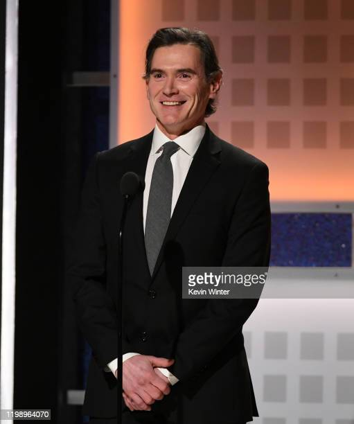 Billy Crudup speaks onstage during AARP The Magazine's 19th Annual Movies For Grownups Awards at Beverly Wilshire, A Four Seasons Hotel on January...