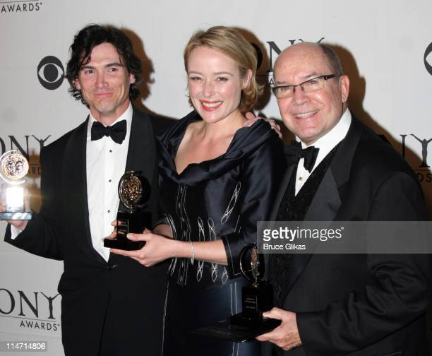 """Billy Crudup, winner Featured Actor for """"The Coast of Utopia,"""" Jennifer Ehle, winner Featured Actress for """"The Coast of Utopia,"""" and Jack O'Brien,..."""