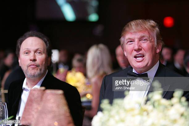 Billy Crystal and Donald Trump during Muhammad Ali's Celebrity Fight Night XIII Show at Marriot Desert Ridge Resort Spa in Phoenix Arizona United...