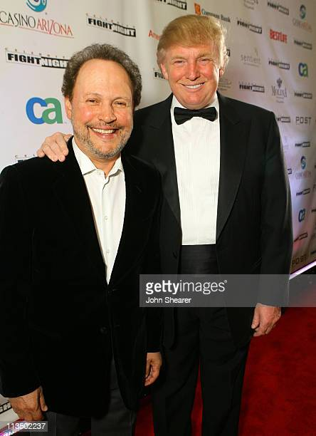 Billy Crystal and Donald Trump during Muhammad Ali's Celebrity Fight Night XIII Red Carpet at Marriot Desert Ridge Resort Spa in Phoenix Arizona...