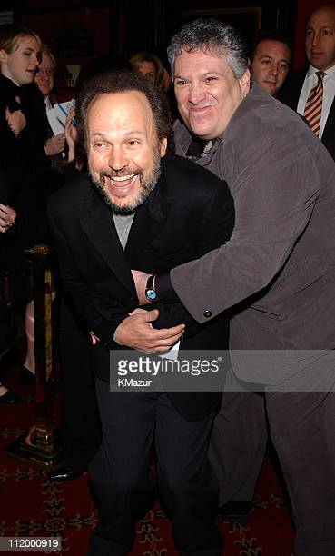 Billy Crystal and Harvey Fierstein during Death To Smoochy Premiere at Ziegfeld Theatre in New York City New York United States