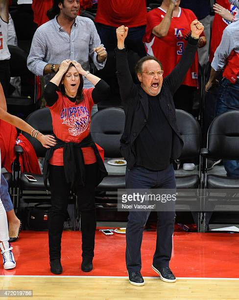 Billy Crystal and his wife Janice Crystal attends basketball game between the San Antonio Spurs and Los Angeles Clippers at Staples Center on May 2...