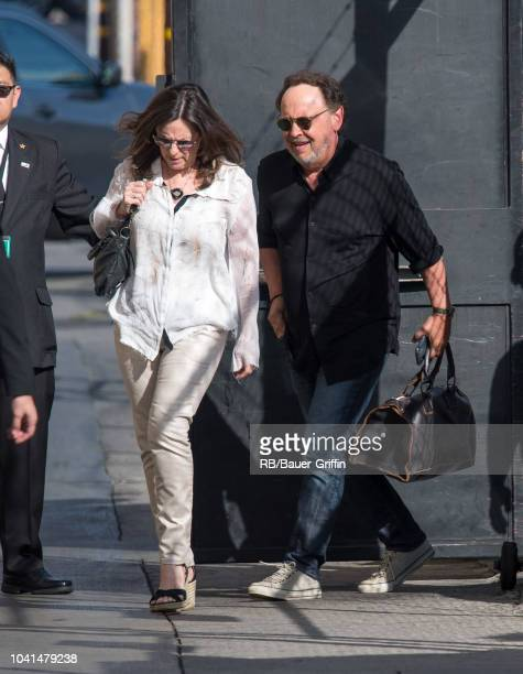 Billy Crystal and Janice Crystal are seen at 'Jimmy Kimmel Live' on September 26 2018 in Los Angeles California