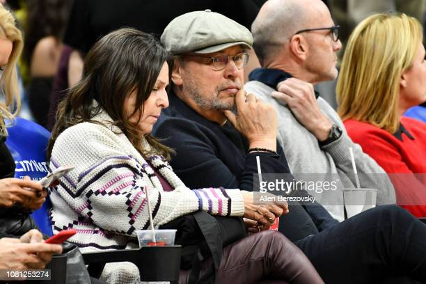 Billy Crystal and Janice Crystal attend a basketball game between the Los Angeles Clippers and the Toronto Raptors at Staples Center on December 11,...