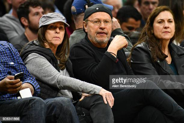 Billy Crystal and Janice Crystal attend a basketball game beween the Los Angeles Clippers and the New Orleans Pelicans at Staples Center on March 6,...