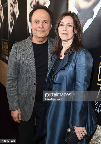 Billy Crystal and Janice Crystal attend an HBO premiere of an exclusive presentation of 'Billy Crystal 700 Sundays' at Ray Kurtzman Theater on April...