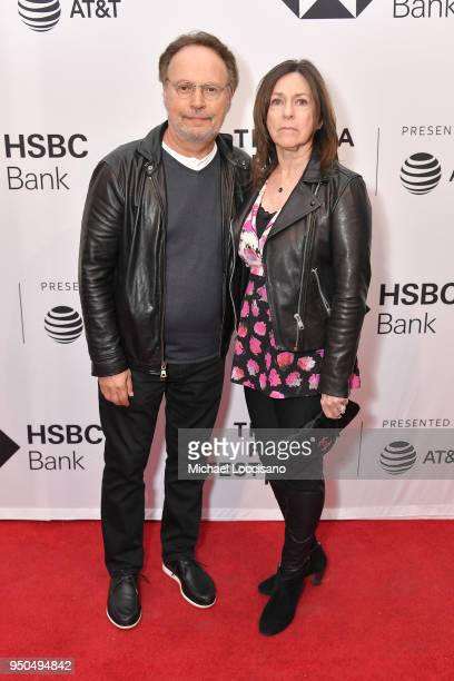 """Billy Crystal and Janice Crystal attend the screening of """"Untogether"""" during the 2018 Tribeca Film Festival at SVA Theatre on April 23, 2018 in New..."""
