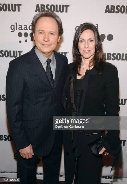 Billy Crystal and Janice Crystal during 16th Annual GLAAD Media Awards Arrivals at Marriott Marquis in New York City New York United States