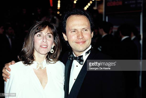Billy Crystal and Janice Crystal in 1988 ca. In London, England.