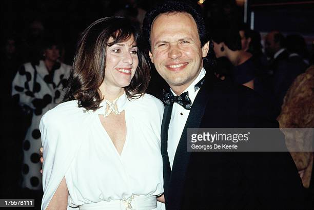 Billy Crystal and Janice Crystal in 1988 ca in London England