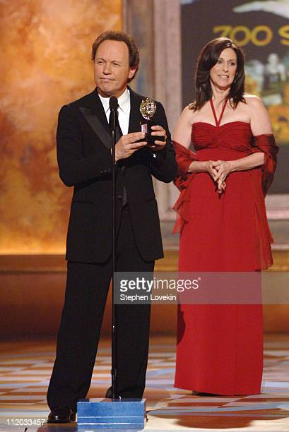 """Billy Crystal and Janice Crystal, winners Best Special Theatrical Event for """"700 Sundays"""""""