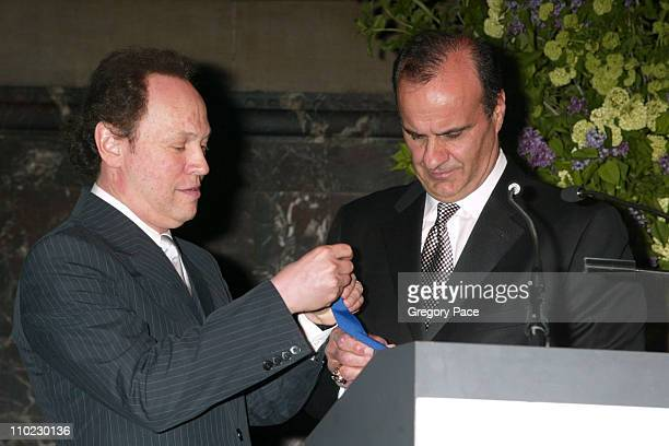 Billy Crystal and Joe Torre during The Actors Fund There's No Business Like Show Business Gala at Cipriani 42nd Street in New York City New York...