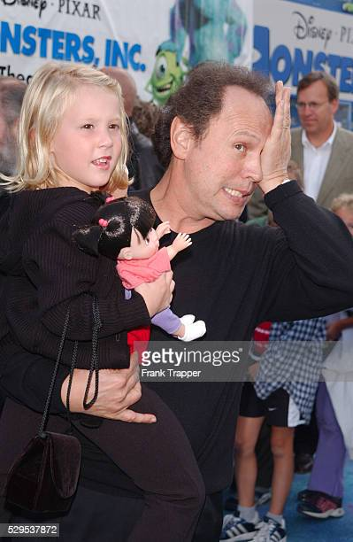 Billy Crystal and Mary Gibbs at the premiere of Disney/Pixar's Monsters Inc