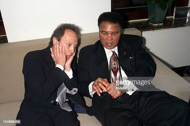 Billy Crystal and Muhammad Ali during Audemars Piguet's time to give celebrity watch auction for charity with the proceeds going to the Inner City...