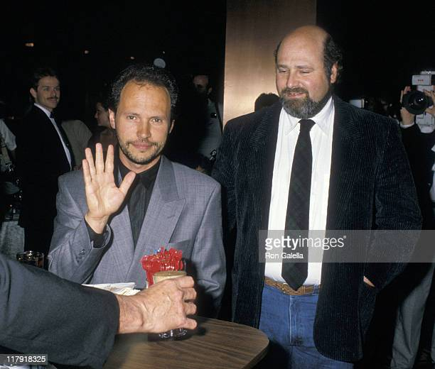 Billy Crystal and Rob Reiner during Mike Tyson vs Michael Spinks Fight at Trump Plaza June 27 1988 at Trump Plaza in Atlantic City New Jersey United...
