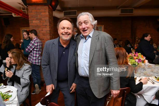 Billy Crystal and Robert De Niro attend the 2019 Tribeca Film Festival Jury Lunch at Tribeca Grill Loft on April 25 2019 in New York City