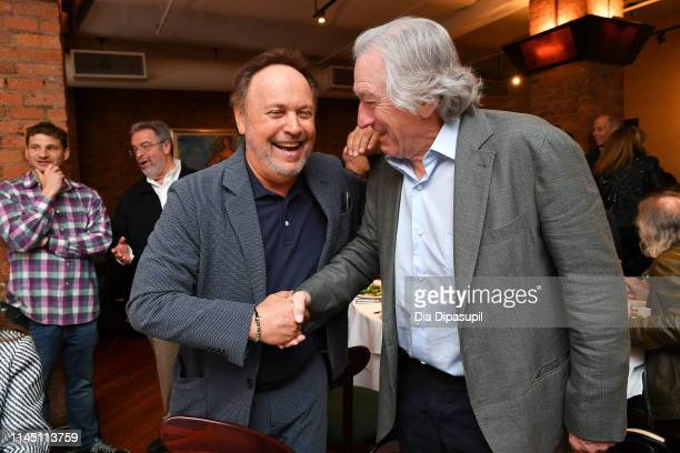 Billy Crystal and Robert De Niro attend the 2019 Tribeca Film Festival Jury Lunch at Tribeca Grill Loft on April 25, 2019 in New York City.