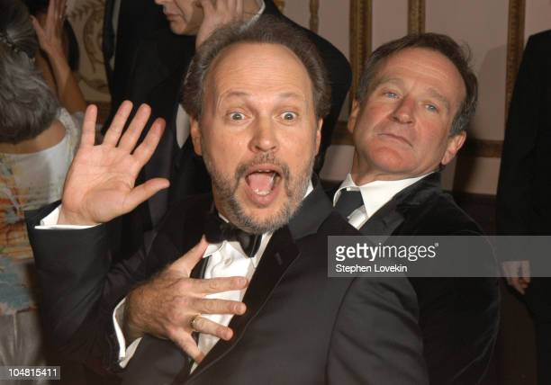 Billy Crystal and Robin Williams during The American Museum of the Moving Image Salute to Billy Crystal at The Waldorf Astoria in New York City...