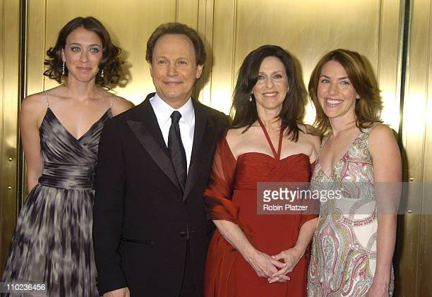 Billy Crystal and wife Janice Crystal nominees Best Special Theatrical Event for '700 Sundays' with daughters Lindsay and Jennifer