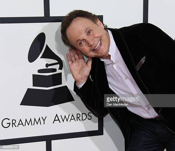 Billy Crystal arrives at the 56th Annual GRAMMY Awards at Staples Center on January 26 2014 in Los Angeles California