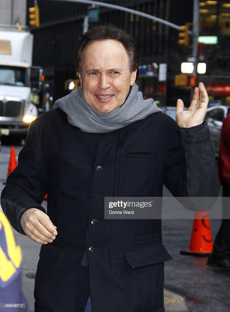 Billy Crystal arrives for the 'Late Show with David Letterman' at Ed Sullivan Theater on December 10, 2013 in New York City.