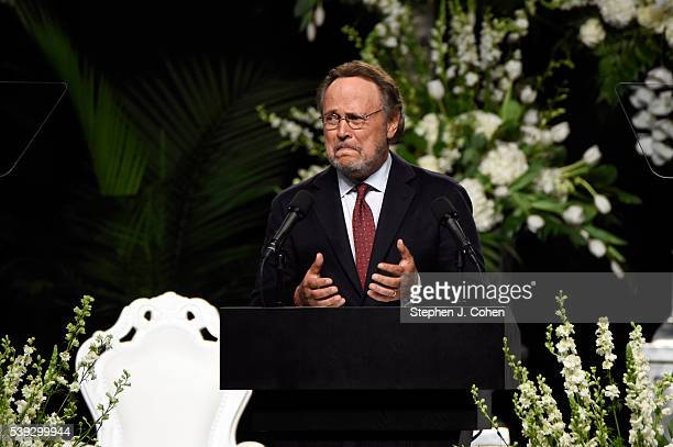 Billy Crystal attends the Muhammad Ali Memorial Service at KFC YUM Center on June 10 2016 in Louisville Kentucky