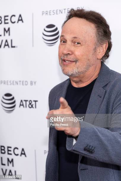 "Billy Crystal attends the ""Standing Up, Falling Down"" premiere during 2019 Tribeca Film Festival at SVA Theater, Manhattan."