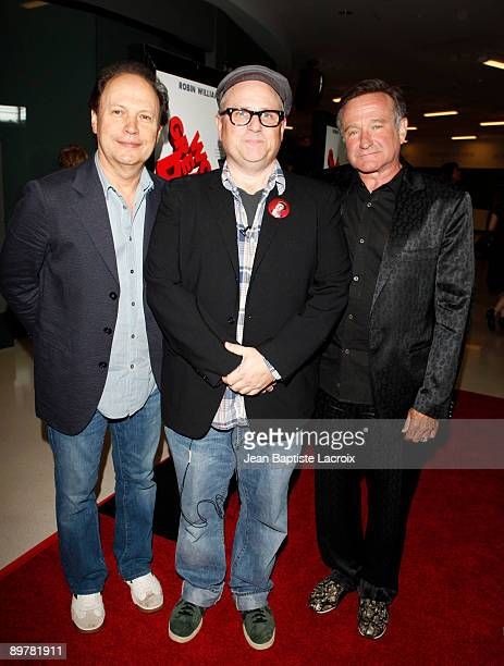 """Billy Crystal, Bobcat Goldthwait and Robin Williams arrive at the Los Angeles premiere of """"World's Greatest Dad"""" at the Landmark Theater on August..."""