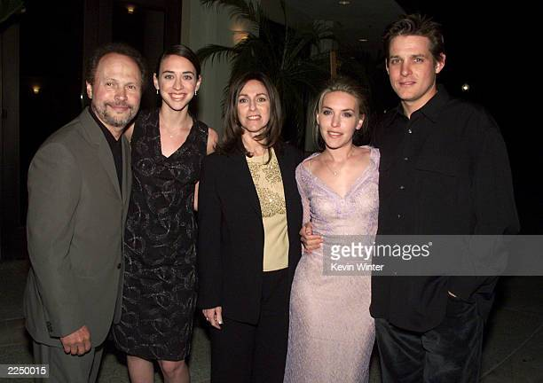 Billy Crystal daughter Lindsay wife Janice daughter jennifer Crystal Foley and her husband Michael Foley at HBO's screening of '61*' at Paramount...