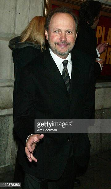 Billy Crystal during Opening Night of 'The Play What I Wrote' at Lyceum Theatre in New York City New York United States