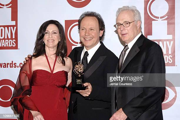"""Billy Crystal, Janice Crystal and Larry Magid, winners Best Special Theatrical Event for """"700 Sundays"""""""