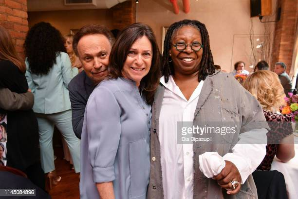 Billy Crystal, Janice Crystal, and Whoopi Goldberg attend the 2019 Tribeca Film Festival Jury Lunch at Tribeca Grill Loft on April 25, 2019 in New...